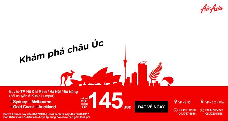 Hành trình du lịch châu Úc với giá vé chỉ từ 145 USD cuối năm