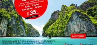 Cùng Air Asia du lịch ngay với vé máy bay cực rẻ chỉ từ 35 USD
