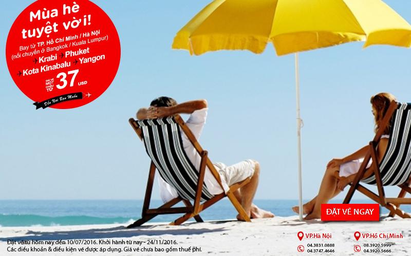 Khám phá kỳ nghỉ hè tuyệt vời với vé Air Asia chỉ từ 37 USD
