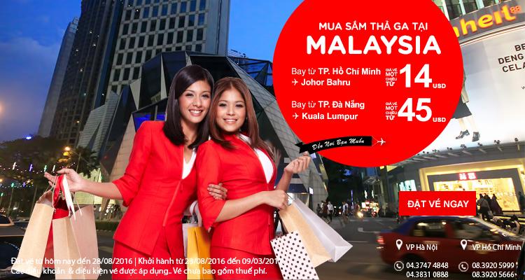 Thả phanh mua sắm tưng bừng ở Malaysia với vé rẻ chỉ từ 14 USD