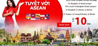 Chỉ từ 10 USD vé Air Asia chu du Asean tuyệt vời