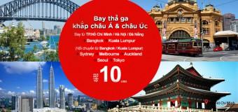 Khám phá du lịch châu Á, châu Úc với vé ưu đãi chỉ từ 10 USD