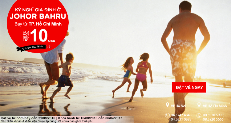 Chỉ từ 10 USD tận hưởng kỳ nghỉ tuyệt vời cùng gia đình ở Johor Bahru