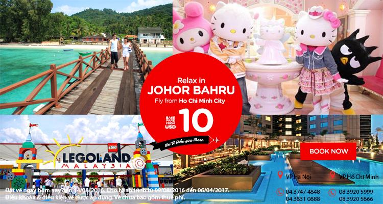 Giải trí ở thiên đường Johor Bahru vé chỉ từ 10 USD