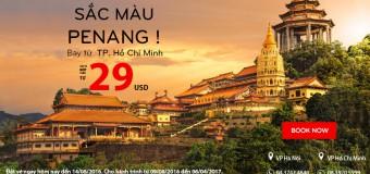 Dễ dàng du lịch Penang với vé Air Asia siêu rẻ chỉ từ 29 USD