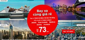 Chỉ từ 73 USD vé Air Asia bay xa khắp thế giới