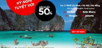 Bay ngay Đông Nam Á với giá vé siêu rẻ giảm 50%