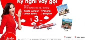 Kỳ nghỉ vẫy gọi với vé Air Asia chỉ từ 3 USD một chiều siêu rẻ