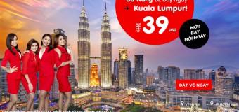 Vé máy bay đi Kuala Lumpur từ Đà Nẵng giá chỉ từ 39 USD