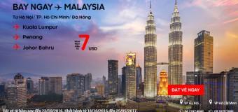 Bay ngay Malaysia với vé Air Asia ưu đãi chỉ từ 7 USD