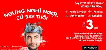 Du lịch cuối năm siêu tiết kiệm với vé rẻ Air Asia chỉ từ 3 USD