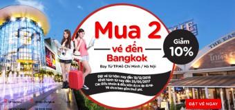 Mua từ 2 vé đi Bangkok, Air Asia khuyến mãi giảm đến 10%