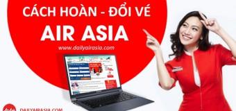 Cách hoàn đổi vé máy bay hãng Air Asia