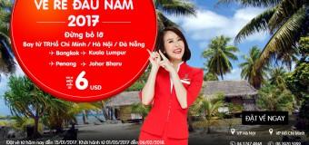 Vô vàn vé rẻ Air Asia chỉ từ 6 USD được mở bán