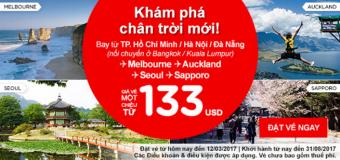 Vé Air Asia giá ưu đãi đầu tuần siêu hấp dẫn chỉ từ 113 USD