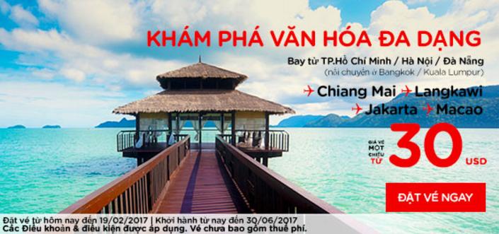 Chỉ từ 30 USD vé Air Asia dễ dàng khám phá văn hóa châu Á