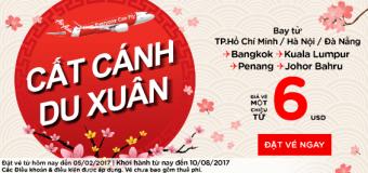 Chỉ từ 6 USD vé Air Asia dễ dàng du xuân đón Tết