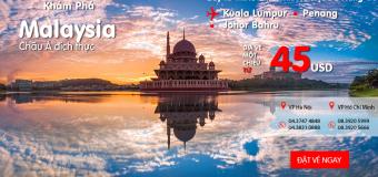 Du lịch Malaysia cực vui – Với vé KM chỉ từ 45 USD của Air Aisa