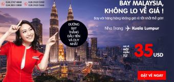 Air Asia mở đường bay thẳng Nha Trang – Kuala Lumpur, vé từ 35 USD ưu đãi!