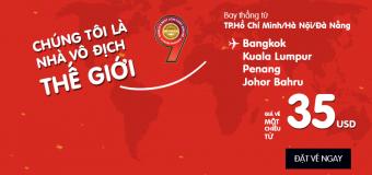 Chỉ từ 35 USD, dễ dàng du lịch Châu Á cùng Air Asia hè 2017