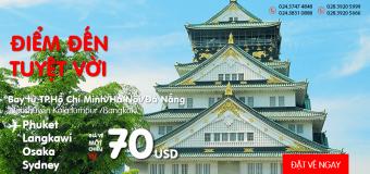 Vi vu khắp Châu Á với vé siêu rẻ từ 70 USD/chiều cùng Air Asia