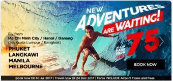 Sẵn sàng khám phá thế giới cùng Air Asia – Với vé rẻ từ 75 USD ưu đãi