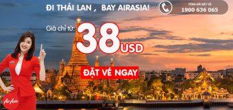 Vé khứ hồi đi Thái Lan từ 35.5 USD – Du lịch thả ga cùng Air Asia