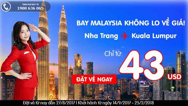 Cùng Air Asia khởi hành đến Kuala Lumpur với vé siêu tiết kiệm từ 43 USD