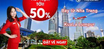 Khởi hành tới Kuala Lumpur tiết kiệm đến 50% cùng Air Asia