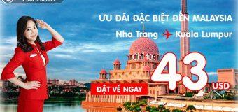 Chỉ từ 43 USD – Đặt chân đến Kuala Lumpur danh tiếng từ TP Nha Trang cùng Air Asia