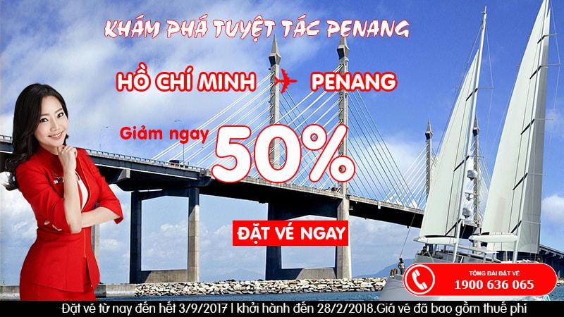 Đến Penang du lịch cùng ưu đãi giảm giá vé tới 50% của Air Asia