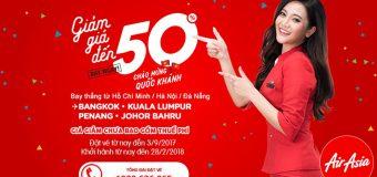 Đón Quốc khánh cùng Air Asia – Du lịch Đông Nam Á giá vé giảm đến 50%