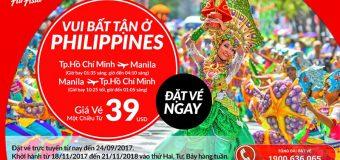 Ưu đãi bay thẳng TP.HCM – Manila cùng Air Asia vé chỉ từ 39 USD
