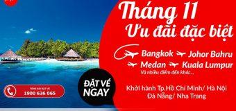Tháng 11 du hí muôn nơi cùng Air Asia – Giá tốt chỉ từ 35 USD