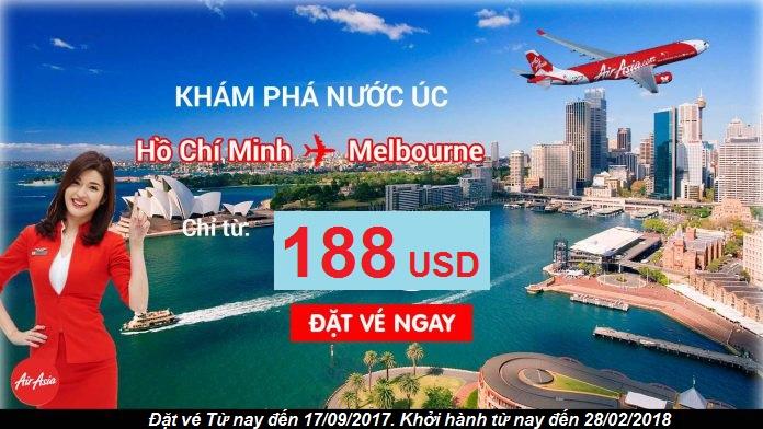 Quẩy tung nước Úc với vé đến Melbourne chỉ từ 188USD cùng Air Asia