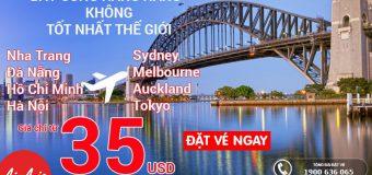 Bay cùng Air Asia, hãng hàng không danh tiếng – Giá tốt chỉ từ 35 USD/chiều