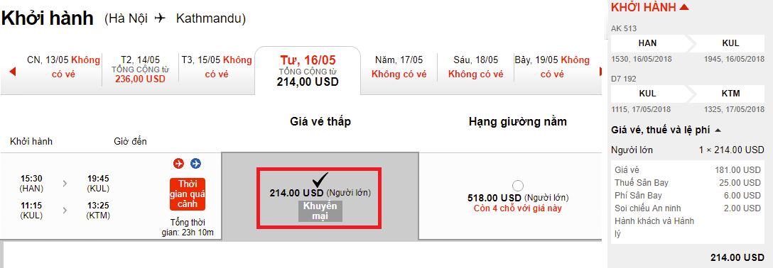 Hành trình Hà Nội - Kathmandu vé chỉ từ 124 USD ưu đãi