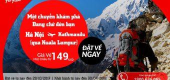 Cùng Air Asia khám phá Nepal – Vé Hà Nội đến Kathmandu chỉ từ 149 USD siêu tiết kiệm