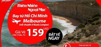 Air Asia siêu KM vé đi Melbourne chỉ từ 159 USD từ Việt Nam