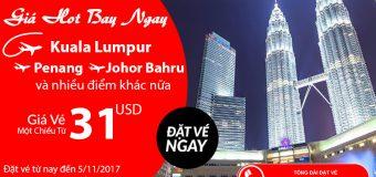 Air Asia KM bạt ngàn vé rẻ chỉ từ 31 USD – Du ngoạn châu Á không tốn kém