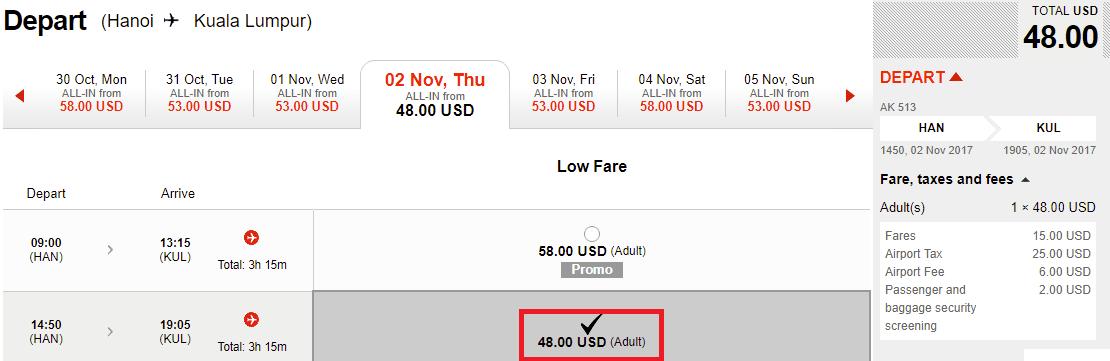 Hành trình Hà Nội - Kuala Lumpur vé chỉ từ 48 USD siêu rẻ