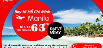 Vé đi Manila từ 63 USD – Bay cùng Air Asia vui bất tận ở Philipines