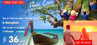 Du lịch Thái Lan mùa cuối năm cùng Air Asia – Giá vé sốc chỉ từ 36 USD