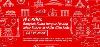 Săn vé 0 đồng của Air Asia thả ga du lịch Châu Á không tốn kém
