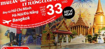 Cuối năm du lịch Thái Lan cuồng chân với vé Air Aisa từ 33 USD