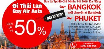 Air Asia giảm giá vé lên đến 50% cho hành trình bay Bangkok
