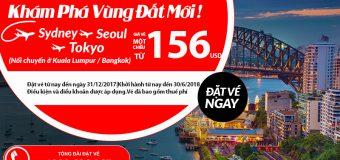 Rộn ràng bay Úc – Đông Bắc Á, vé Air Asia một chiều chỉ từ 156 USD tiết kiệm