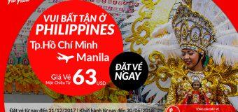 Cùng Air Asia bay Manila vé rẻ như ý, chỉ từ 63 USD/chiều