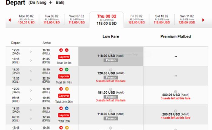 Giá vé khuyến mại từ Đà Nẵng đi Bali