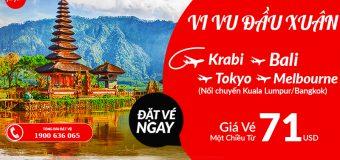 Siêu rẻ, vé Air Asia một chiều đi châu Á du ngoạn chỉ từ 71 USD